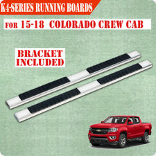 "For 2015-2020 Colorado/Canyon Crew Cab 4"" Nerf Bar Running Board Side Step S/S H"