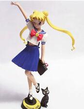 Sailor Moon Student Uniform with Cat Cute 1/8 Unpainted Figure Model Resin Kit