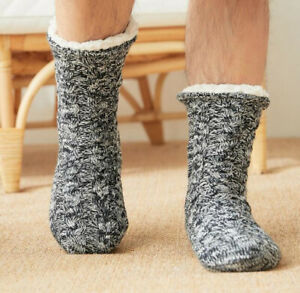2021 Top Hot Men's Slippers Wool Thick Plush Winter Socks Floor Shoes Home