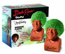 Chia Pet Bob Ross with Seed Pack, Decorative Pottery Planter The Joy of Painting