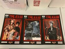 IDW TRUE BLOOD #1, #2, & #3 RE COVERS BUNDLE : 3-ISSUE LOT : NM CONDITION