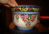 Superbe ancien gros cache pot décor Frise style Renaissance Safi Poterie Maroc