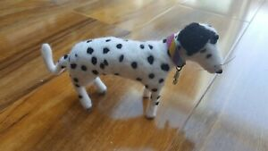 Dalmatian Dog Needle Felted Unique Handmade Animal Red-Pinapple Gift Present