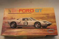 Aurora 1/25 Ford GT 40 Plastic Model Kit Oriignal Box 1965