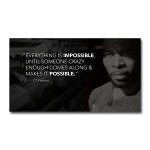 CT Fletcher Bodybuilding Motivational Art Silk Canvas Poster 13x24 24x43 inch