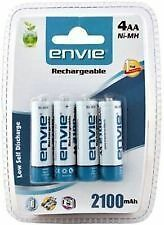 Envie 2100mAh AA (4nos) Ni-MH Rechargeable Battery for DIGITAL CAMERA + Warranty