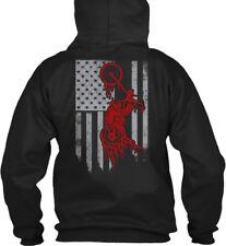 Biker Flag Gildan Hoodie Sweatshirt