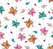 Mottos to Live White Butterflies Mary Engelbreit 100% cotton fabric by the yard