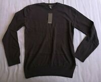 New Look Men's Black Basic Crew Neck Jumper Size M Medium New With Tags