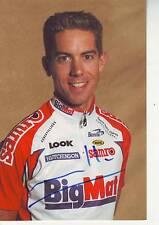 CYCLISME carte cycliste LOIC LAMOULLER équipe BIG MAT AUBER 93  signée