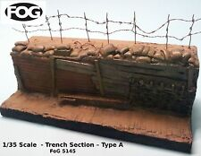 1/35 Scale  - WW1 style Trench – Type A - 200mm long, 90mm high and 70mm deep