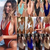 Backless Sexy Womens One Piece Bandage Bikini Swimsuit Beach Monokini Swimwear
