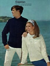 His & hers sweater, jumper, pullover knitting pattern in DK .