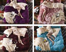 Set letto Copri Piumone Lenzuolo Federe in Pile - Fleece Duvet Cover BED0010 P