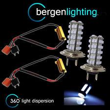 2X H7 Bianco 60 LED Fanale Anteriore Proiettore lampadine Auto Kit Xenon HL500304