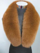 100% Real fox fur collar/ wrap /scarf brown collar  jacket collar Christmas gift
