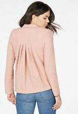 JustFab Pleated Back Blazer Nude Blush Size UK 12 rrp £51 DH170 EE 12