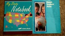 Homeschooling? Geography .  Abeka My state notebook and Heath Student Atlas
