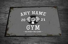 Personalised Gym room / man cave GREY Door mat 60 x 40 cm room mat