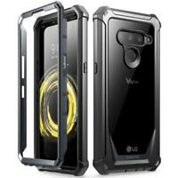 Poetic For LG V50 ThinQ Case, Dual Layer Shockproof Protective Cover Black