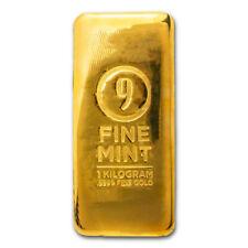 1 Kilo Cast-Poured Gold Bar - 9Fine Mint - SKU#211314