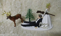 Wedding Party Reception ~Our Wedding Sign~ Deer Hunter Hunting Cake Topper
