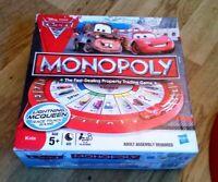 Monopoly Cars 2 Edition Board Game Disney Pixar Hasbro Lightning McQueen Parker