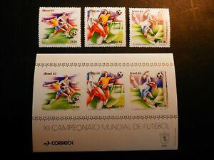 Brazil 1962 - Football World Championship 1982, Michel 1873-75 +Bl.48, MNH