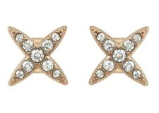 Adore by Swarovski 5303133 Rose Gold Tone 4 Point Star Earrings
