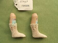 Doll socks for Antique French or German doll,100% Cotton,Handknitted