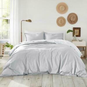 Atelier Martex Luxury Sateen Duvet Cover 300 TC Wrinkle Resistant KING Gray NEW