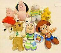 Disney Pixar Toy Story Meerkat Children In Need Peppa Pig Plush Soft Toy Bundle