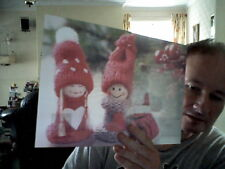 3D DOLLY PUPPETS  DINNER PLACEMAT IDEAL FOR NEXT CHRISTMAS DINNER