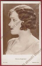 GLORIA SWANSON 16 ATTRICE ACTRESS CINEMA MUTO SILENT MOVIE Cartolina FOTOGRAFICA