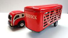 JAPAN TIN LITHO LIVESTOCK TRUCK 1950's EXCELLENT CONDITION.