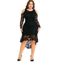 Vestidos Largos De Fiesta De Encaje Casuales Plus Size Elegantes Tallas Grandes
