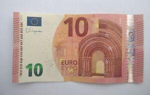 10 Euro Scheinmit Unterschrift von CHRISTINE LAGARDE