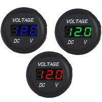 12V 24V Voltage Meter Car Marine Motorcycle LED Digital Voltmeter Battery Gauge