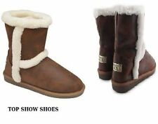 Snow, Winter Faux Suede Slip On Boots for Women