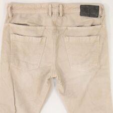 Mens Diesel BRADDOM 003J1 Stretch Straight Regular Fit Cords Cream Jeans W31 L30
