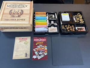 Monopoly Indiana Jones Wood Crate Edition  98%complete Please Read  Desp
