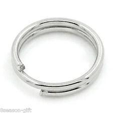 "1000PCs Split Rings Findings Double Loop Silver Tone 7mm(2/8"")Dia."
