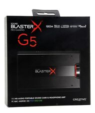 Creative Sound BlasterX G5 7.1 Headphone Surround HD Audio External Sound Card