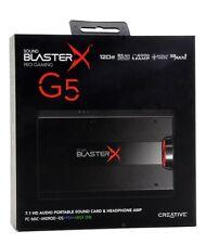 Creative Sound BlasterX G5 7.1 Headphone Surround HD Audio External Sound Card