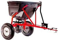 Agri-Fab Lawn Tractor Spreader 130 lb. Capacity Tow Behind Hitch Pneumatic Tires