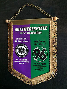 Wimpel 1997/98 Tennis Borussia Berlin - Hannover 96, gold -  21.05. / 24.05.1998