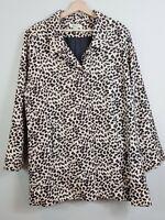 [ BEME ] Womens Leopard Print Jacket / Coat  | Size AU 20 or US 16