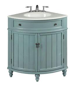 Corner Blue Vintage Style Thomasville Sink Vanity 47544BU