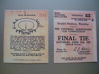 1929 F.A. Cup Final Ticket Bolton Wanderers v Portsmouth Mint condition