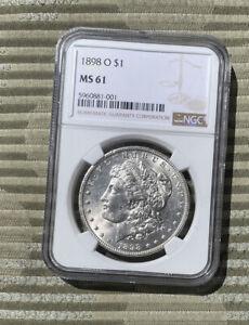 1898 O Morgan Silver Dollar NGC MS61
